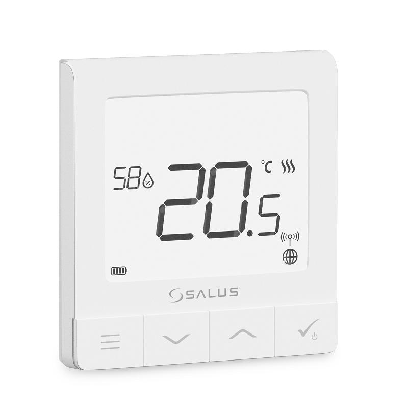 SALUS SQ610 - Multifunkční termostat s čidlem vlhkosti vestavěnou Li-Ion baterií